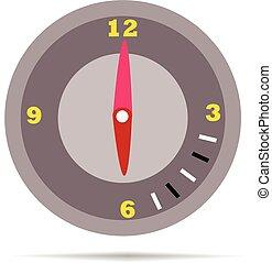 time.vector, illustratie, vrolijke