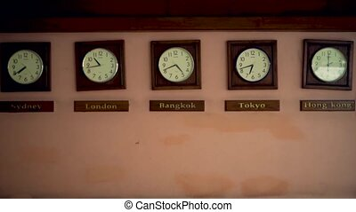 Timezone clocks showing different time - Timezone old clocks...