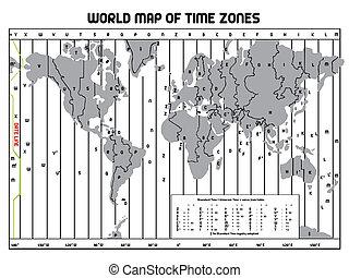 timezone, karta