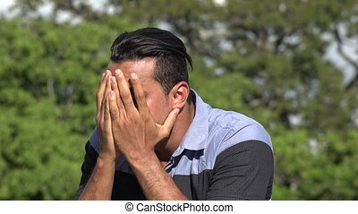 Timid Fearful Adult Hispanic Man