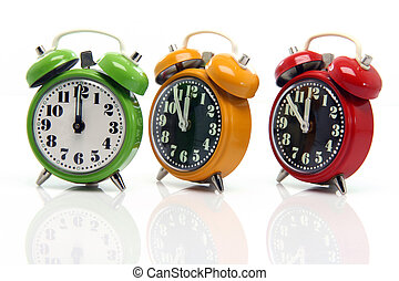 timing alarm clocks - timing red yellow and green alarm ...