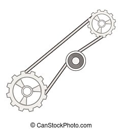 Timing belt icon, cartoon style - Timing belt icon. Cartoon...