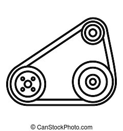 Timing belt icon, outline style
