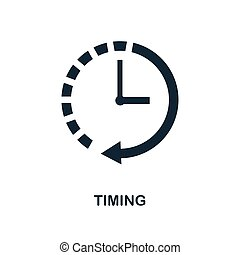 Timing icon. Monochrome style design from business icon collection. UI. Pixel perfect simple pictogram timing icon. Web design, apps, software, print usage.