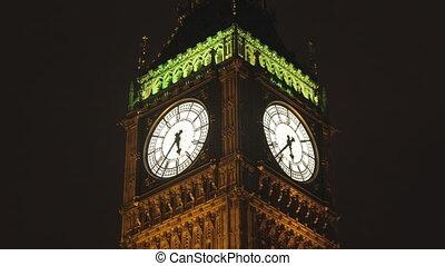 timlapse, parlement, ben, grand, lentille, maisons, londres, inclinaison, coup, décalage