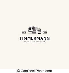 timmermann, conception, classique, construction, logo
