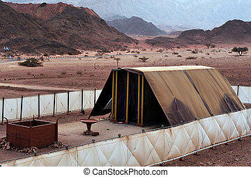 Timna Park - Model of the tabernacle - TIMNA, ISR - OCT 15:...