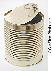 Tin - A single open tin.