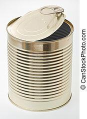 A single open tin.