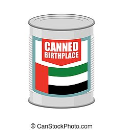 tin., birthplace., bandera, uae., unido, emiratos, árabe, ...