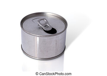 Tin Can, Close-up various metal tin can with blank, Ring...