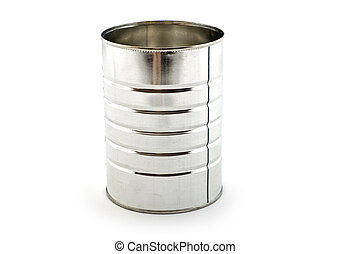 Tin can - Empty tin can isolated on white background