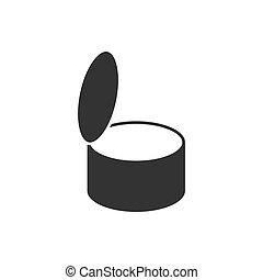 Tin can icon flat