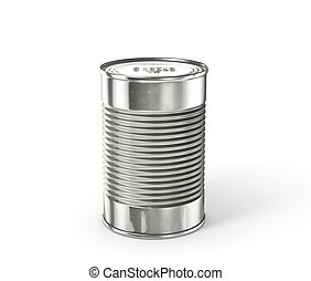 Tin can isolated on a white. 3d illustration