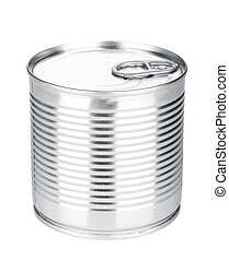 Tin can. Isolated on white background