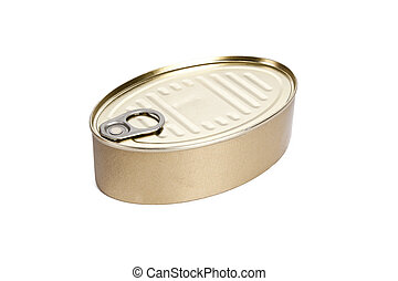 tin can isolated on white background