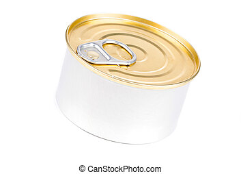 Tin can isolated on white