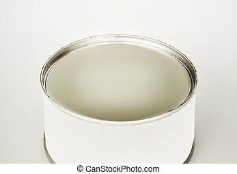 tin can of the fluid product