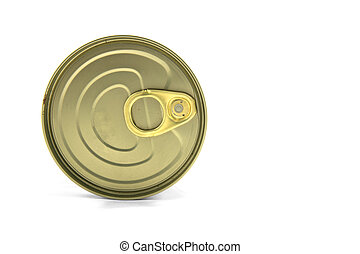Tin can on white background isolated