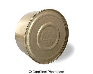 Tin can on white