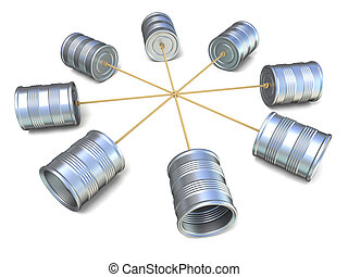 Tin can phones connected