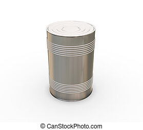 Tin can - 3D render of a tin can
