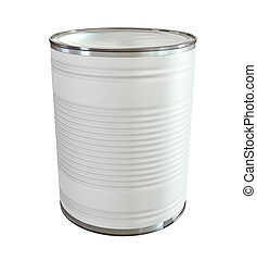 Tin Can with Label Perspective