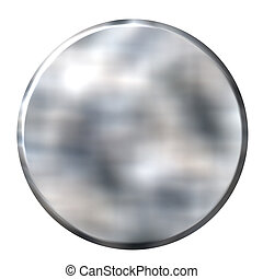 Tin Foil Circular Button - 3d tin foil circular button...