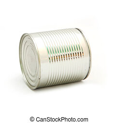 food can - Tin food can on a white background
