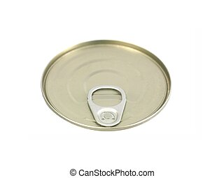 Tin Lid - Tin can lids isolated against a white background