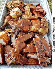 Tin Pan of BBQ Meats
