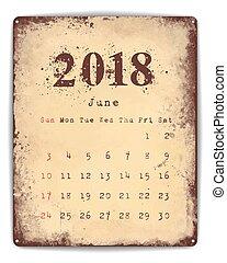 Tin Plate Calendar - A retro style tin and enamel signboard...