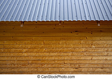 tin roof of wooden house