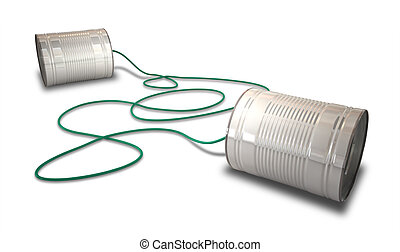 Tin Telephones - A pair of homemade telephones made from tin...