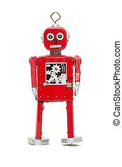 tin toy, robot