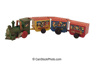 Tin toy Train - Antique, tin toy wind up train