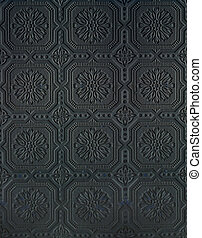 Tin wall Pattern black - Tin wall pattern black