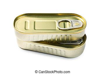 tincan, av, sardinen