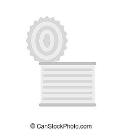 Tincan icon, flat style - Tincan icon isolated on white...