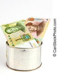 Tincan with money