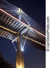 Ting Kau Bridge in Hong Kong, close-up.