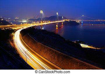 Ting Kau Bridge in Hong Kong