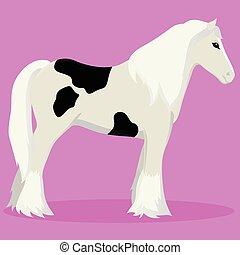 Tinker horse vector illustration