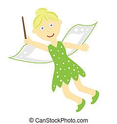 Tinkerbell Fairy - Cute fantasy fairy tale tinkerbell fairy