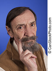 tinking senior man