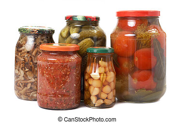 tinned vegetables