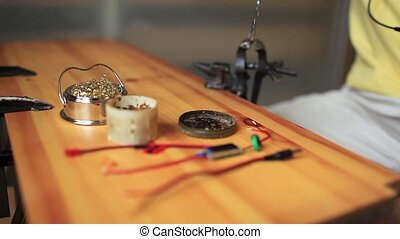 Tinning wires for soldering tin - processing Tinning wires...