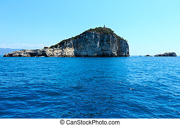 Tino island, La Spezia, Italy - Beautiful sea coast of...