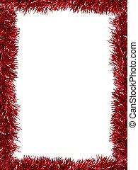 Tinsel Border - Christmas Tinsel as a border isolated...