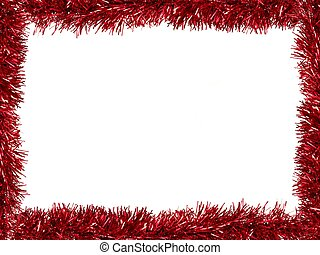 Tinsel Border - Christmas Tinsel as a border isolated...